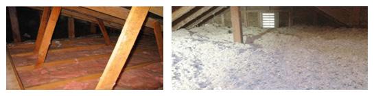 Attic Fiberglass Batts vs Fiberlite Blown In Cellulose Insulation