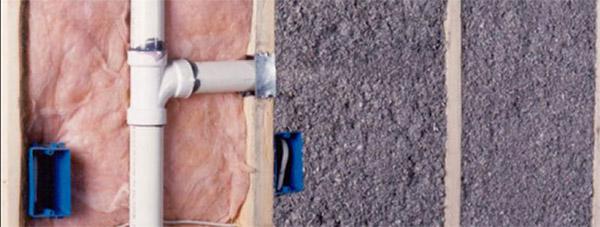 Celllose vs Fiberglass Insulation Wall