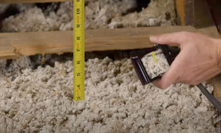How to measure attic cellulose insulation fiberlite tech