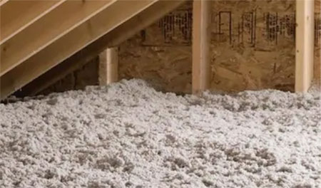 Stabilized Cellulose Insulation in Attic Fiberlite Tech