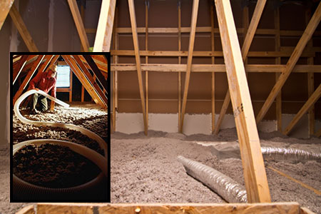 Installing & Finished Cellulose Insulation Attic from FIberliteTech