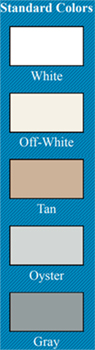 SATAC Commercial Building Insulation Color Chart
