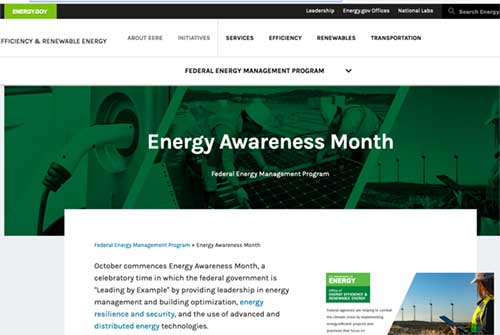 Energy.gov Energy Efficiency Month Page Preview from FTI